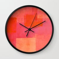 mars Wall Clocks featuring Mars by T30 Gallery