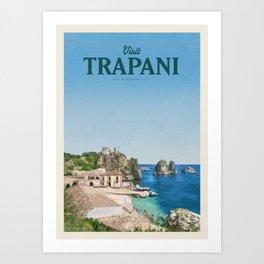 Visit Trapani Art Print