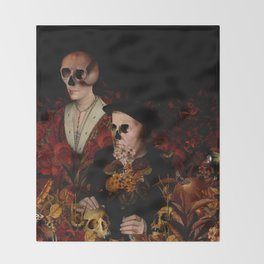 MEMENTO MORI VI Throw Blanket