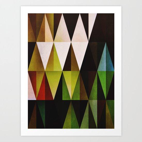 green yyyr Art Print
