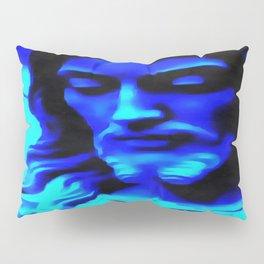 Blue Jesus Pillow Sham