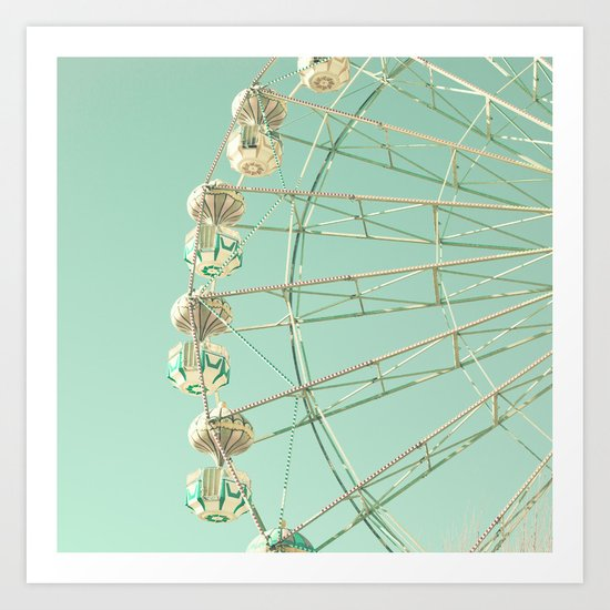 Winter Ferris Wheel  Art Print