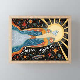 Begin again Framed Mini Art Print