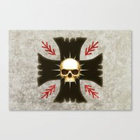 warhammer Canvas Prints featuring Black Voltigeurs by Imperial Diet