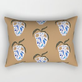 Dynasty Vase with Citrus & Blossoms Rectangular Pillow