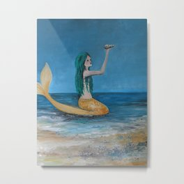 Mystical  Mermaid  Metal Print