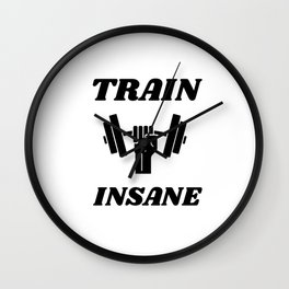 Train Insane Wall Clock