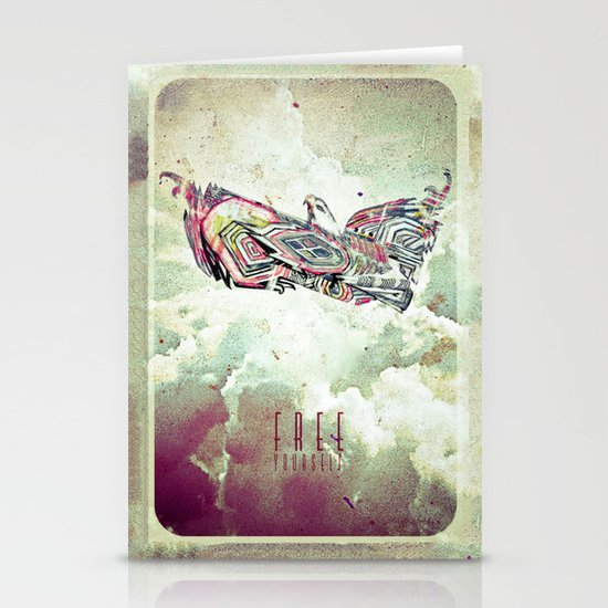 Free Yourself Eagle Stationery Cards