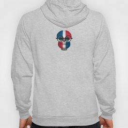 Baby Owl with Glasses and Dominican Flag Hoody