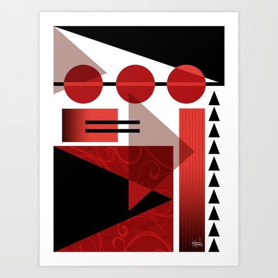 AZTEC DESERT | red Art Print
