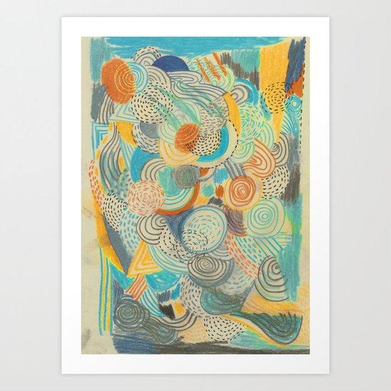 Wide awake Art Print