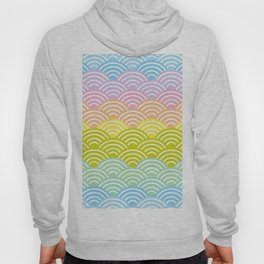Seigaiha or seigainami literally means blue wave of the sea. rainbow pattern abstract scale Hoody