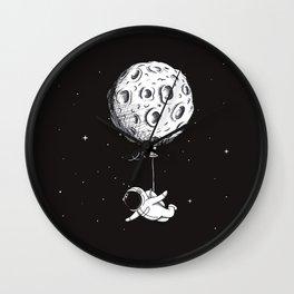 Hot Moon Balloon Wall Clock