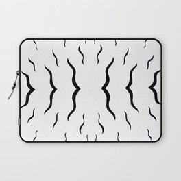 Eclectic Black and White Pattern Laptop Sleeve