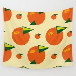 orange pattern Wall Tapestry