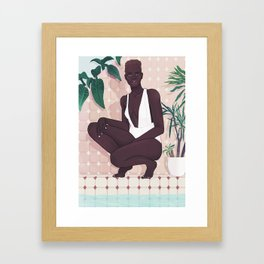 Bathroom Essentials Framed Art Print