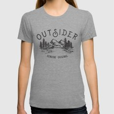 Outsider X-LARGE Tri-Grey Womens Fitted Tee