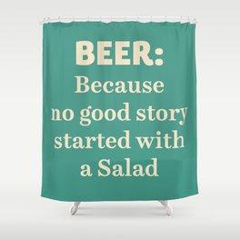 Beer illustration quote, vintage Pub sign, Restaurant, fine art, mancave, food, drink, private club Shower Curtain