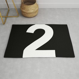 Number 2 (White & Black) Rug