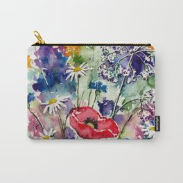 Spring Flowers Watercolour Carry-All Pouch