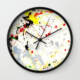 Paint Splatter Wall Clock