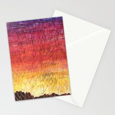 Desert Sunset Pattern Stationery Cards