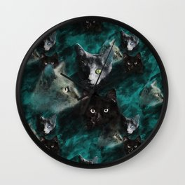 Kittecat Wall Clock