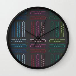 Hairpins Wall Clock