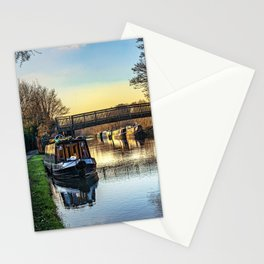 Moored At Monkey Bridge Newbury Stationery Cards