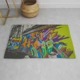 London graffiti art Rug