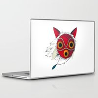 mononoke Laptop & iPad Skins featuring Mononoke Mask  by Puddingshades