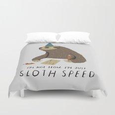 sloth speed Duvet Cover