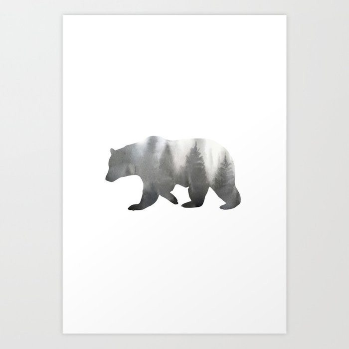 Discover the motif BEAR by Art by ASolo as a print at TOPPOSTER
