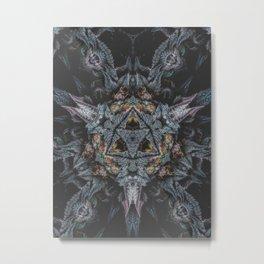 Purple Black Lime Metal Print