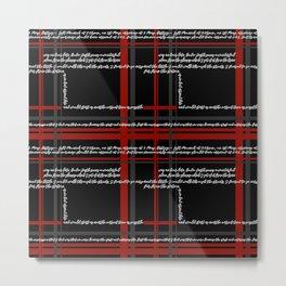 Dracula - A text print Metal Print