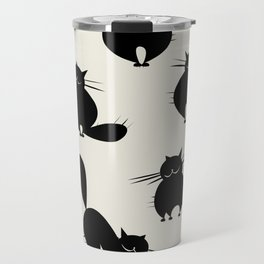 Funny big cats, seamless pattern for your design Travel Mug