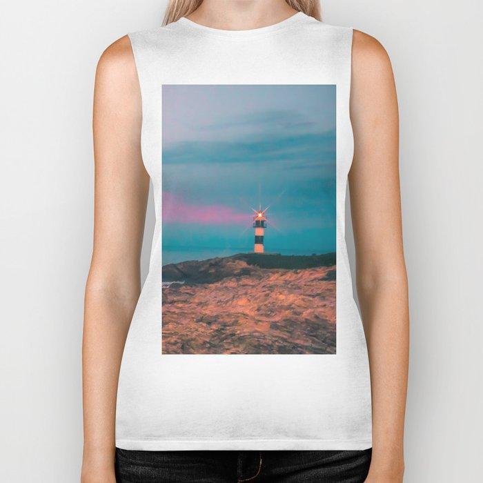 Lighthouse of the Isla Pancha Biker Tank