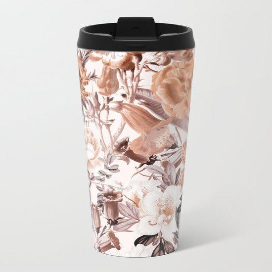 Summer Garden Metal Travel Mug