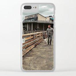 Talk a walk Clear iPhone Case