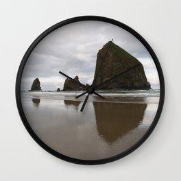 Cannon Beach Haystack Rock Wall Clock