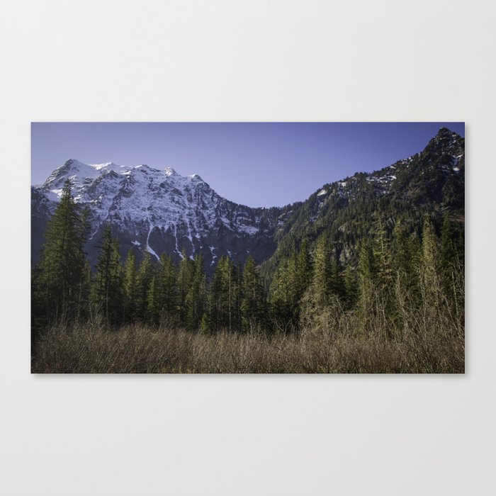 Mountains at Big Four Ice Caves Canvas Print