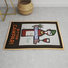 Vintage Bitter Cordial Campari Advertising Poster No. 1 Rug