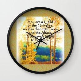 Faded Aspens DESIDERATA Wall Clock