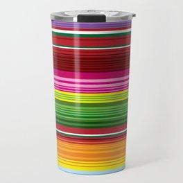 Mexican Blanket - Rainbow Striped Travel Mug