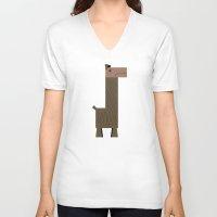 llama V-neck T-shirts featuring Llama by AWOwens