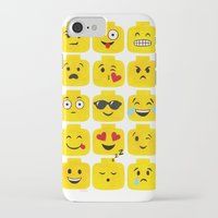 emoji iPhone & iPod Cases featuring Emoji-Minifigure by Raddington Falls