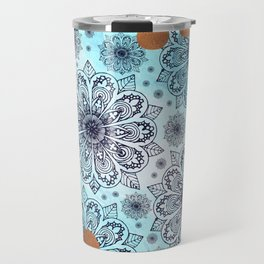 Aqua Mandala Travel Mug
