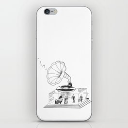 How does a Gramophone actually work? iPhone Skin