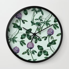 Live in a clover Wall Clock