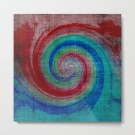 Colored Wave Metal Print